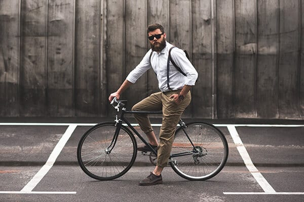 man on bike ready