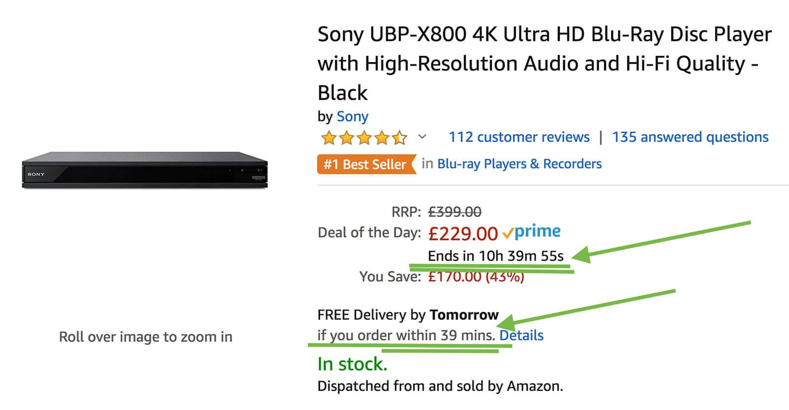 how amazon use countdown timers to drive sales