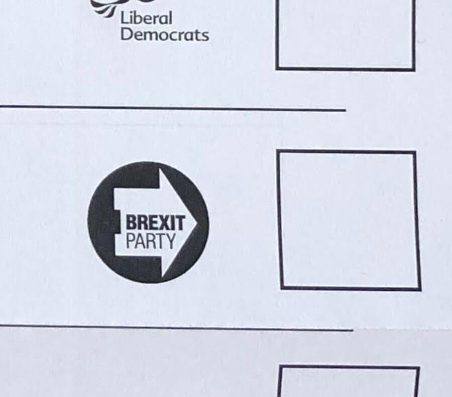 EU elections ballot paper
