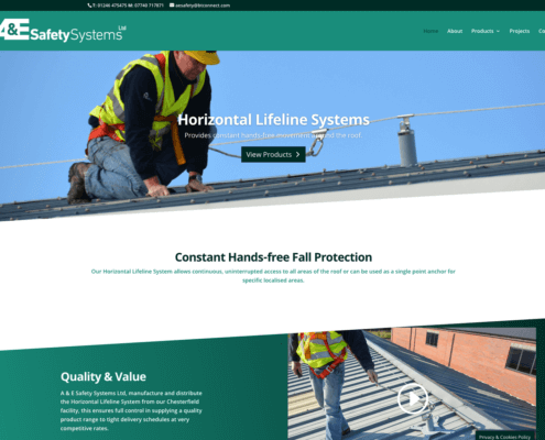 A & E Safety Systems website home page
