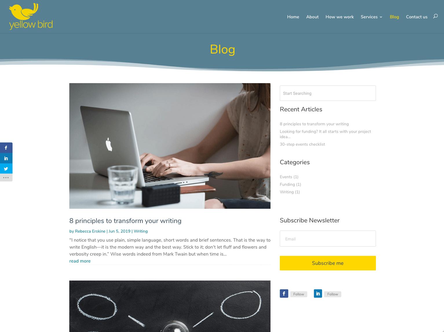 Yellow Bird Marketing and Communications Blog