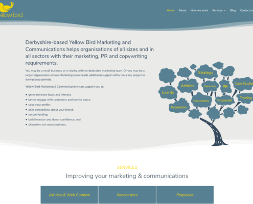 Yellow Bird Marketing and Communications Home Page