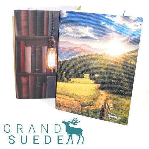 grand suede folders