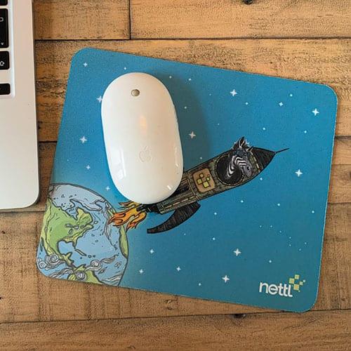 Dark blue mouse mat