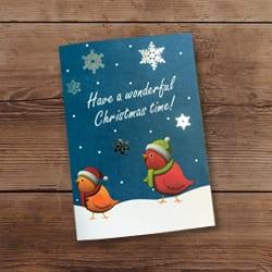Foil Christmas card