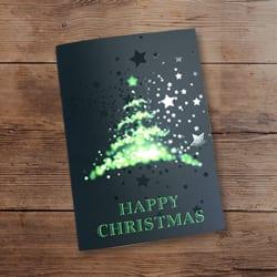 Spot UV Christmas card