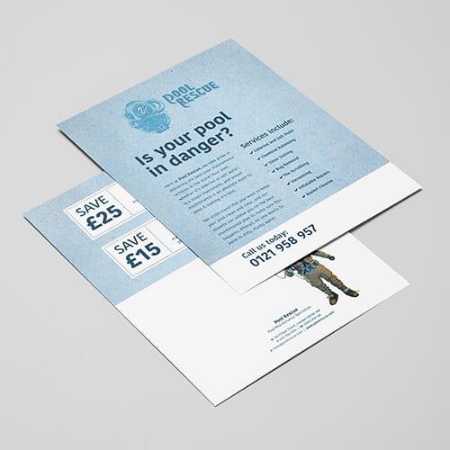 100gsm silk leaflet