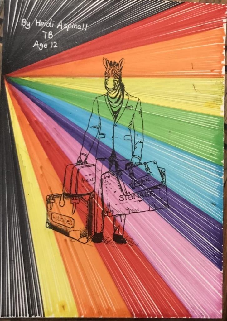 Zac - the zebra stripe of colour