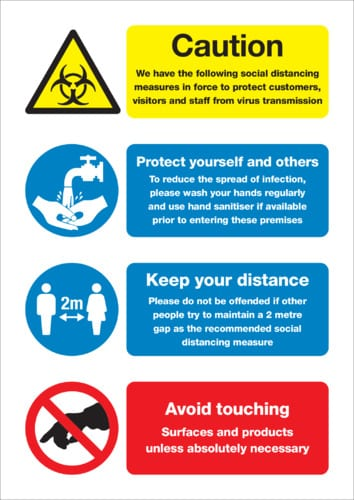 coronavirus site safety poster