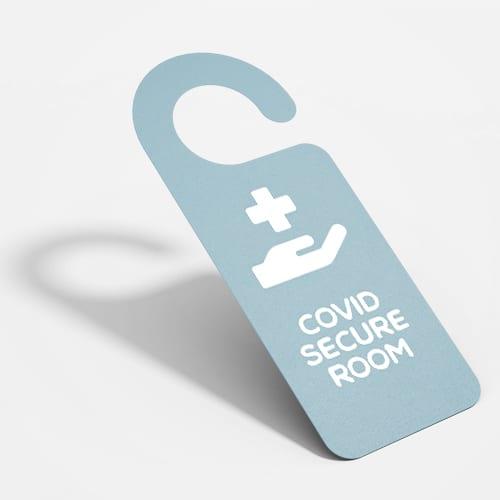 COVID door hanger sign