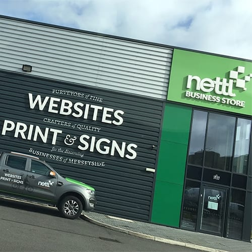 Front of Nettl business store