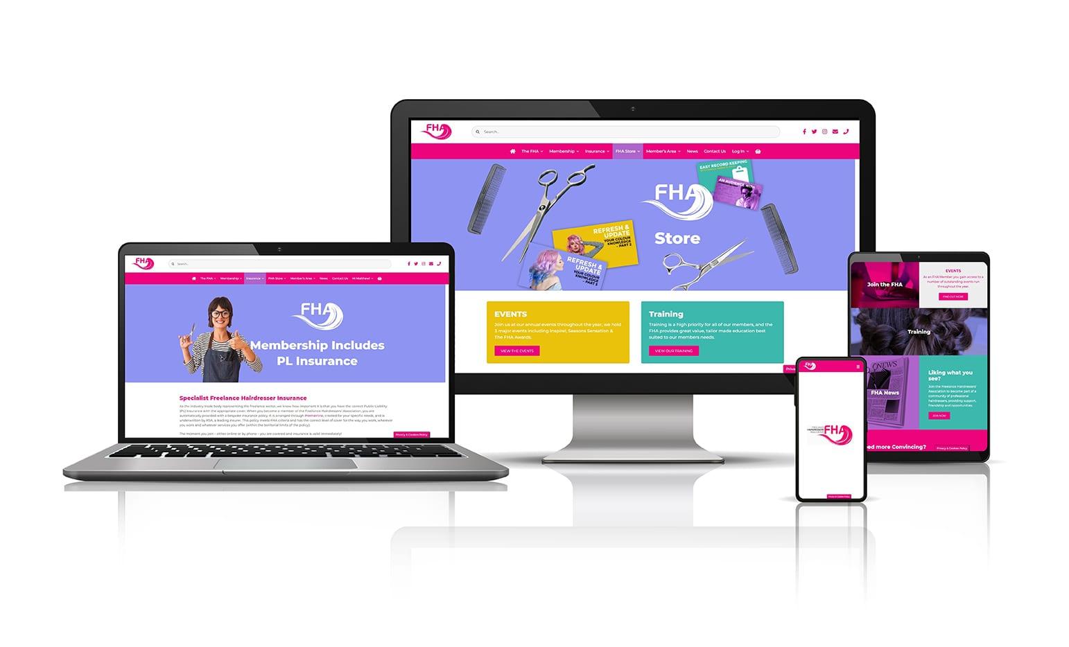Freelance Hairdresser's Association's website