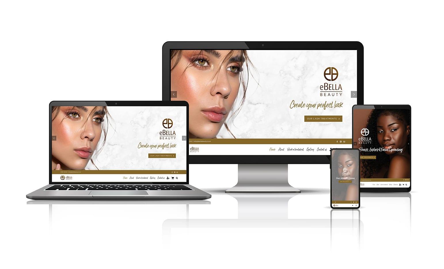 eBella Beauty's website