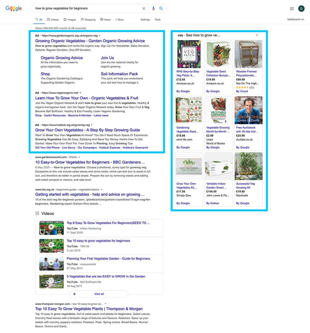 search engine marketing ppc google ads results