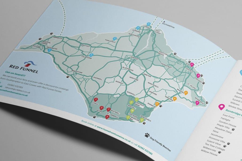 holiday brochure map