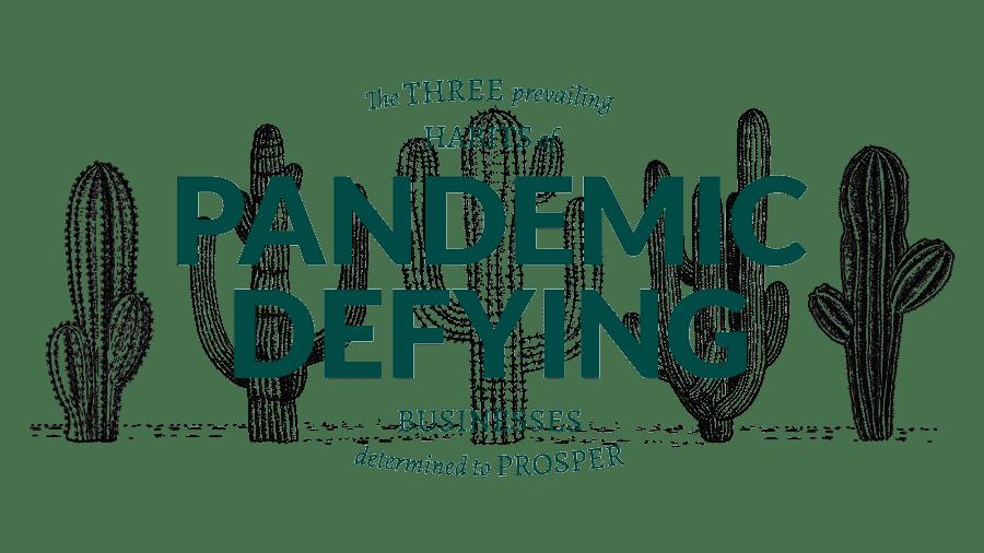 pandemic defying business logo