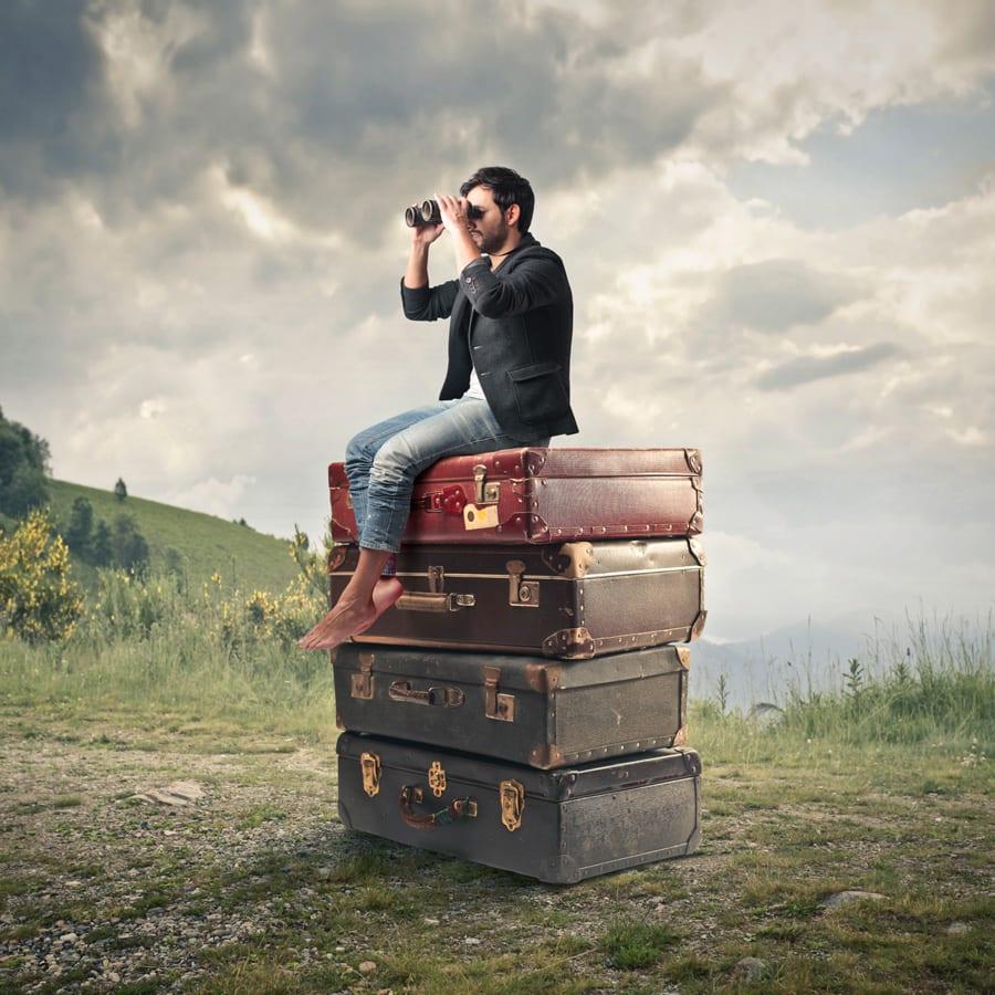 seo metaphor man searching
