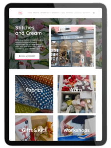 An e-commerce website on an iPad built by Nettl of Plymouth