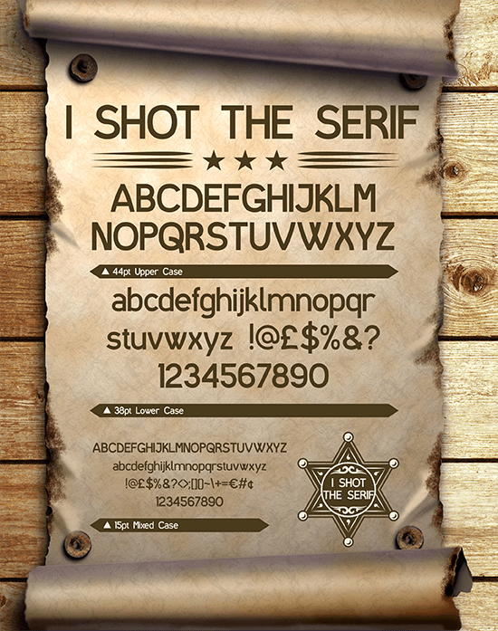 I shot the serif free web fonts