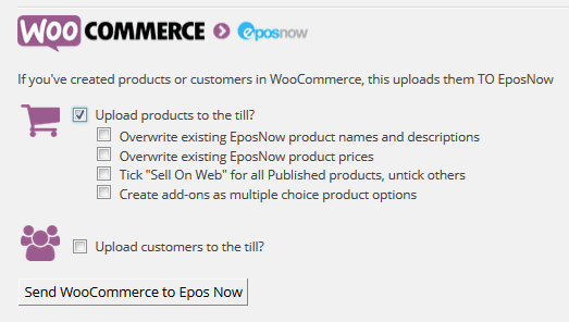 Upload products from website