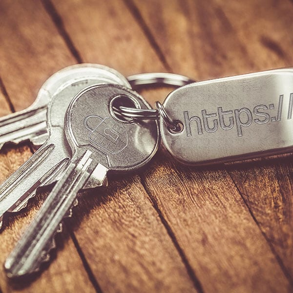 keys with https for website security